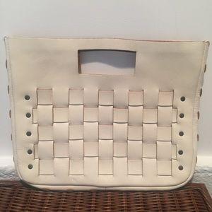 Gap Leather Basket Weave Purse
